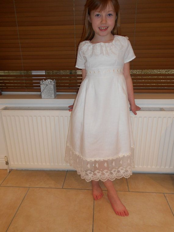 Check out this item in my Etsy shop https://www.etsy.com/ie/listing/177386758/vintage-style-dress-for-first-communion
