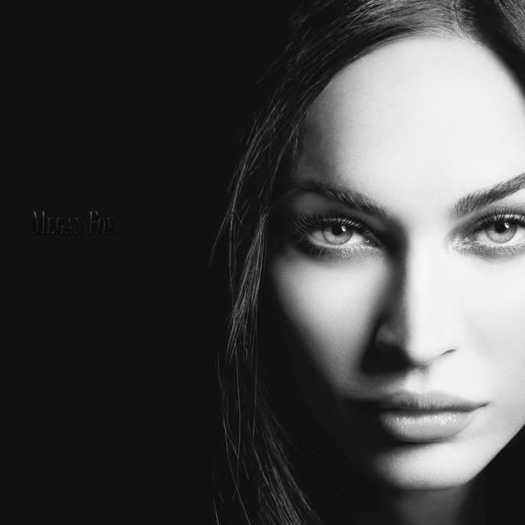 Women black and white megan fox actress models celebrity megan portraits 1680x1050 wallpaper high quality wallpaper