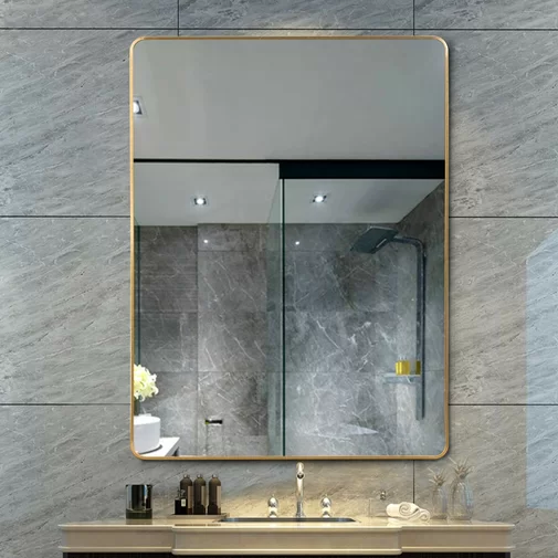Flippo Rectangular Round Corner Wall Mounted Bathroom
