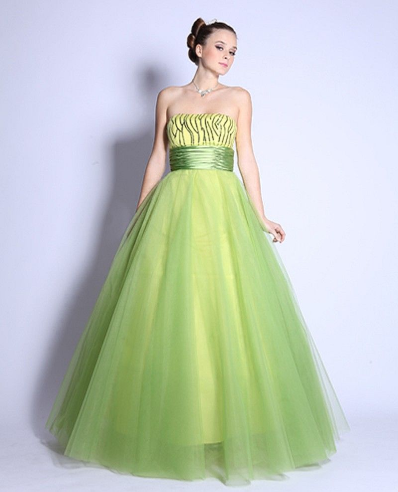 Lime Green Sequin Ball GownLong Lime Green Ball Gown   Pageant Gowns ...