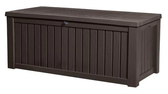 Keter X Large Wood Look Storage Deck Box 570 L Canadian Tire In 2020 Deck Box Storage Outdoor Storage Outdoor