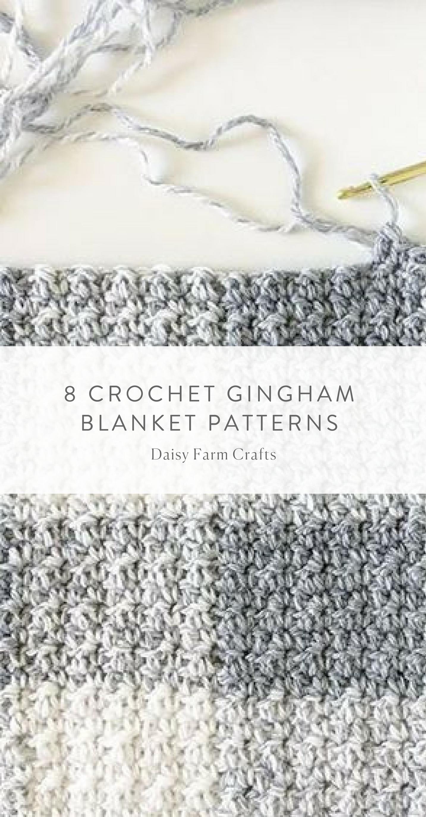 8 Crochet Gingham Blanket Patterns   Blankets   Pinterest   Tejido ...
