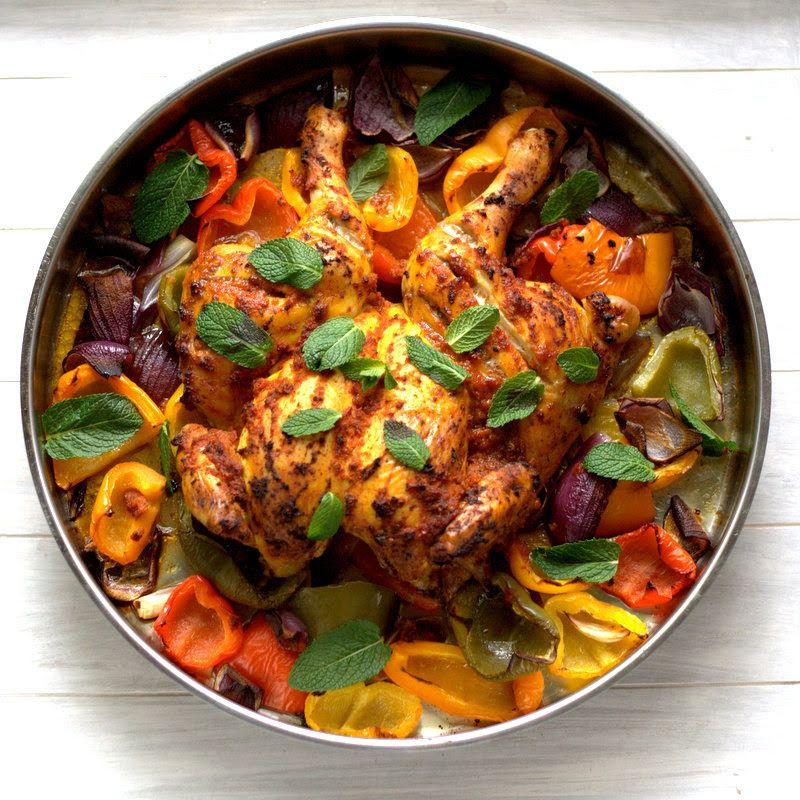 Hauptgang Jamie Oliver Geflugel Fleisch Gemuse Glutenfrei Harissa Hahnchen Aus Dem Ofen Jamies 5 Zutaten Kuche Rezept Rezepte Fleisch Gerichte Harissa