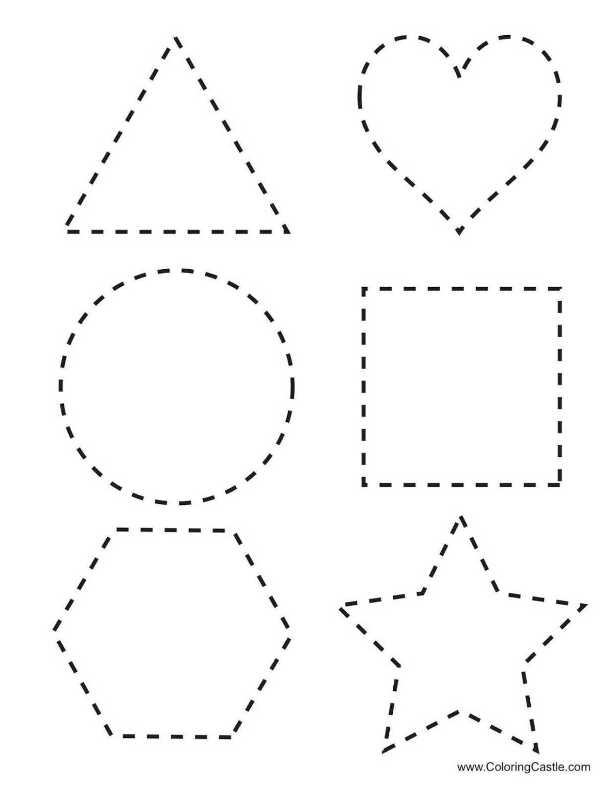 Shape Tracing Worksheets For Learning Shape Tracing