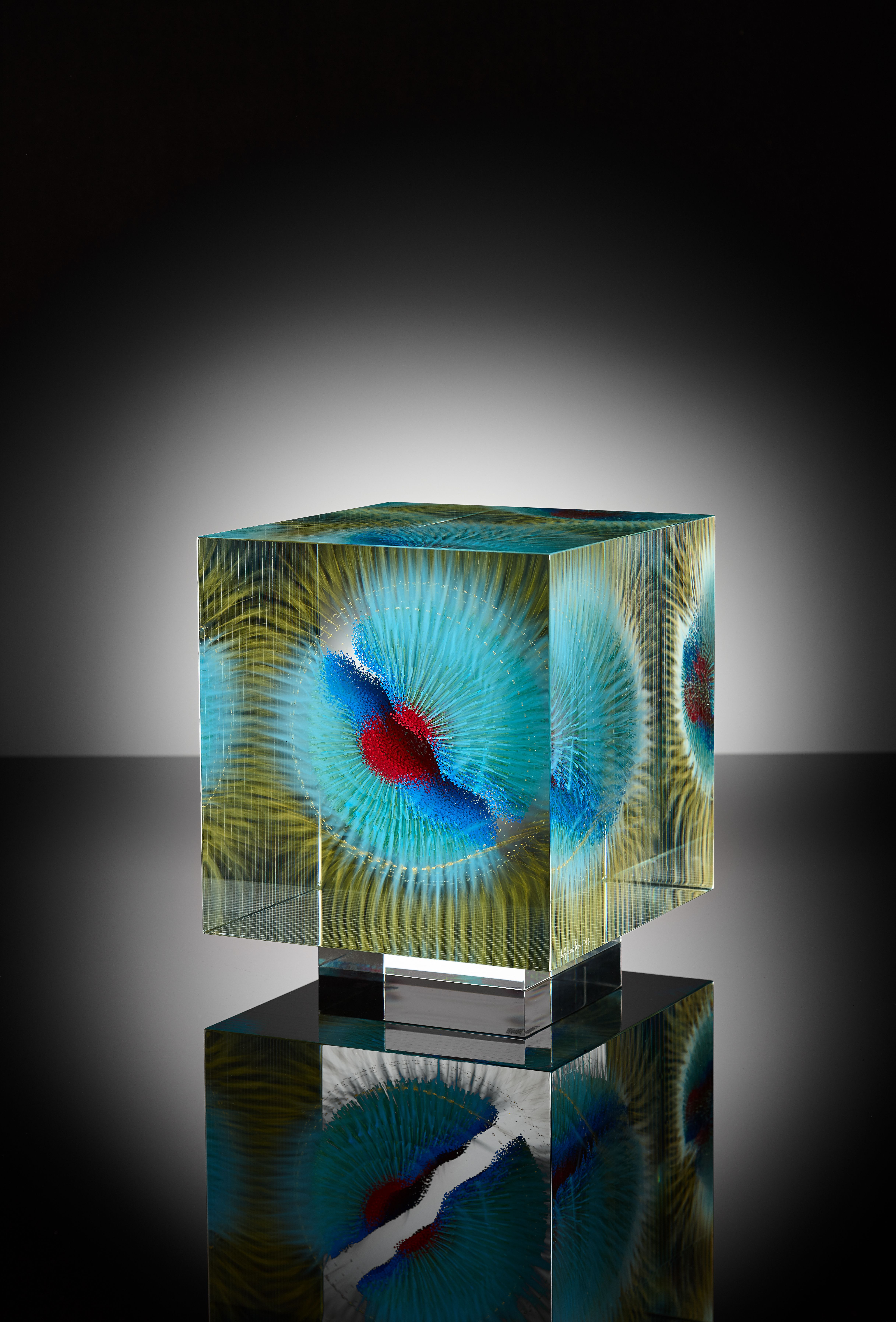 wilfried grootens h19 painted laminated polished glass wilfred