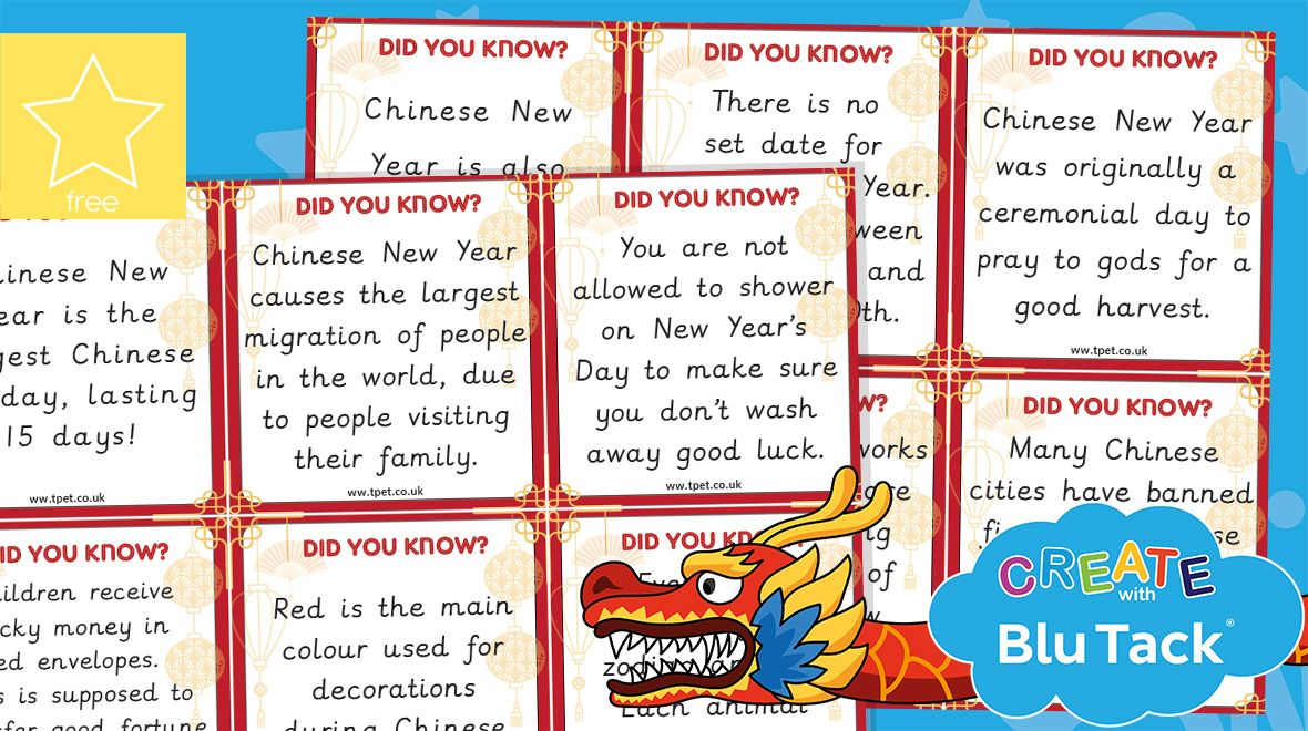 Chinese new year did you know cards in 2020 teachers