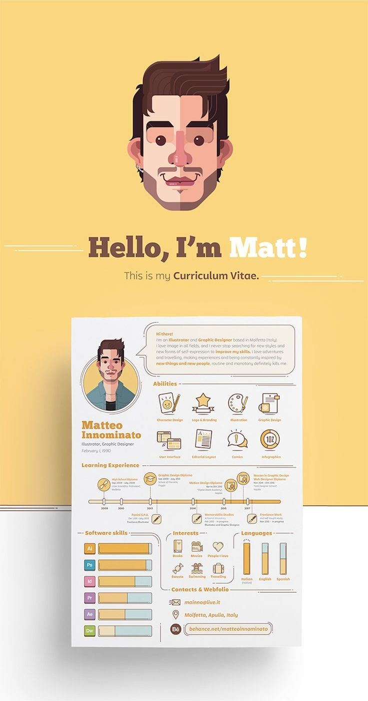 70 Creative & Beautiful Resume Examples to Get Inspired