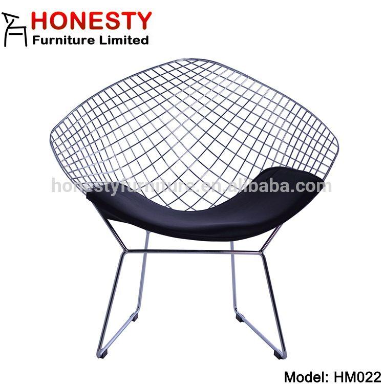 Hm022 chromed powder black replica harry bertoia wire
