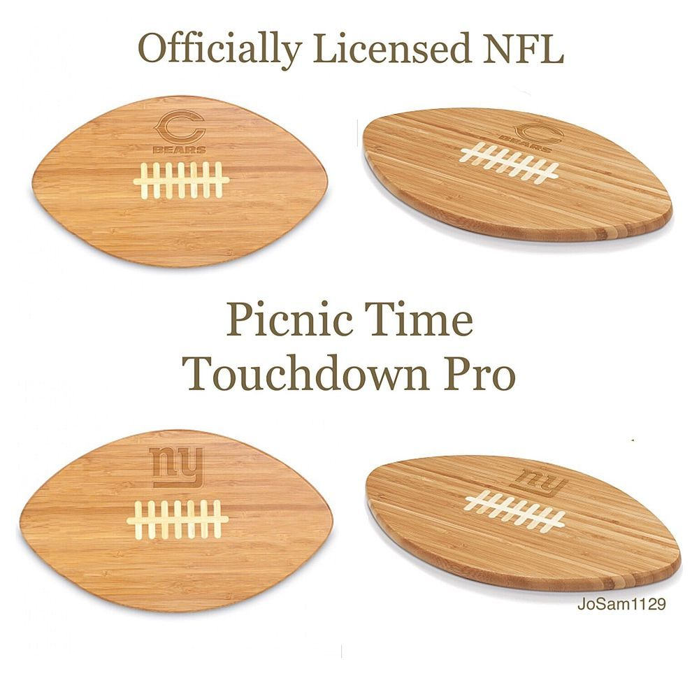Nfl picnic time touchdown pro nfl cutting board chicago bears new