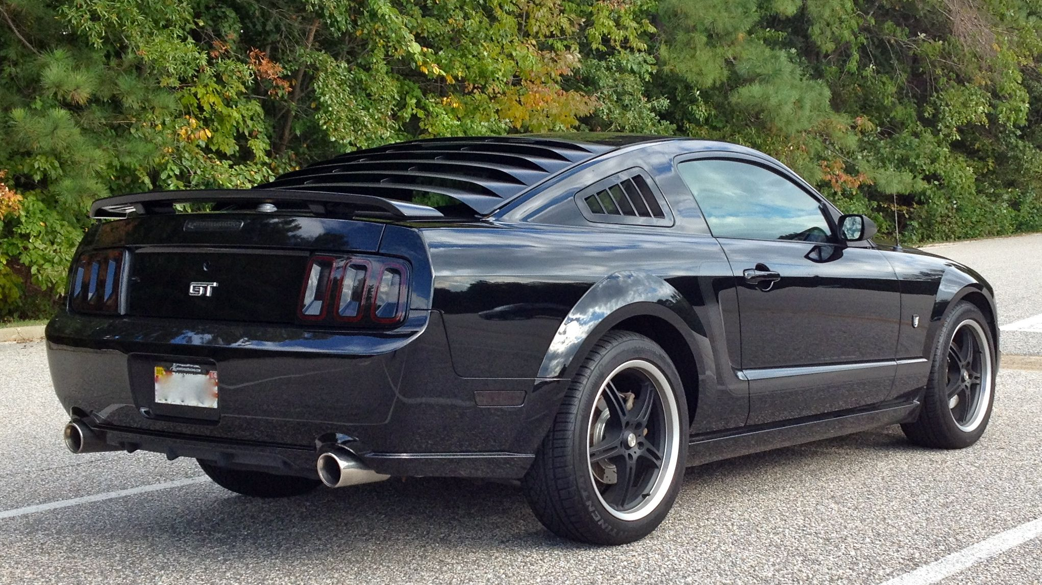 2007 MUSTANG GT WITH RAXIOM 2013 STYLE TAIL LIGHTS, RETRO ...