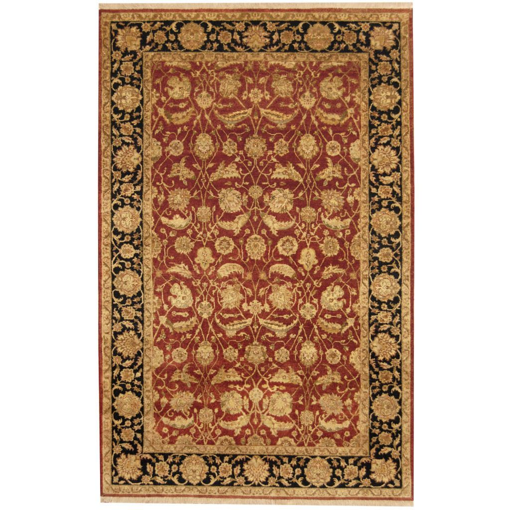 Herat Oriental Indo Hand-knotted Kashan Ivory/ Navy Rug