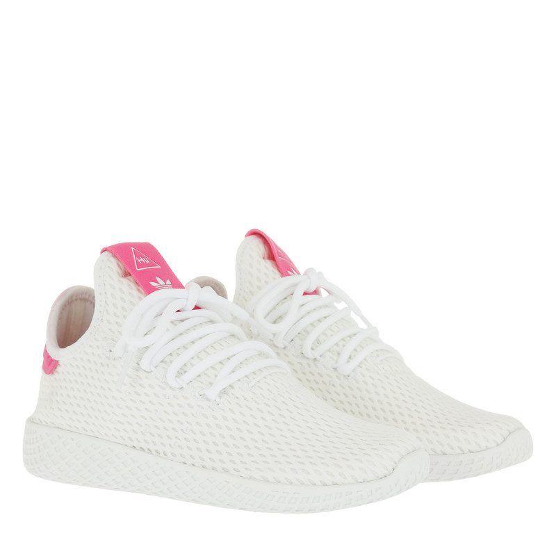 Adidas Originals Adidas Originals Sneakers Pw Tennis Hu Ftwwht Ftwwht Sesopk In Weiss Sneakers Fur Damen Adidas Originals Adidas Damen