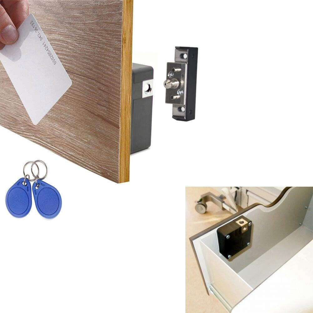 Amazon Com Wooch Electronic Cabinet Lock Kit Set Hidden Diy Lock For Wooden Cabinet Drawer Locker Rfid Card Tag Entry Off Wooden Drawers Drawers Diy Lock