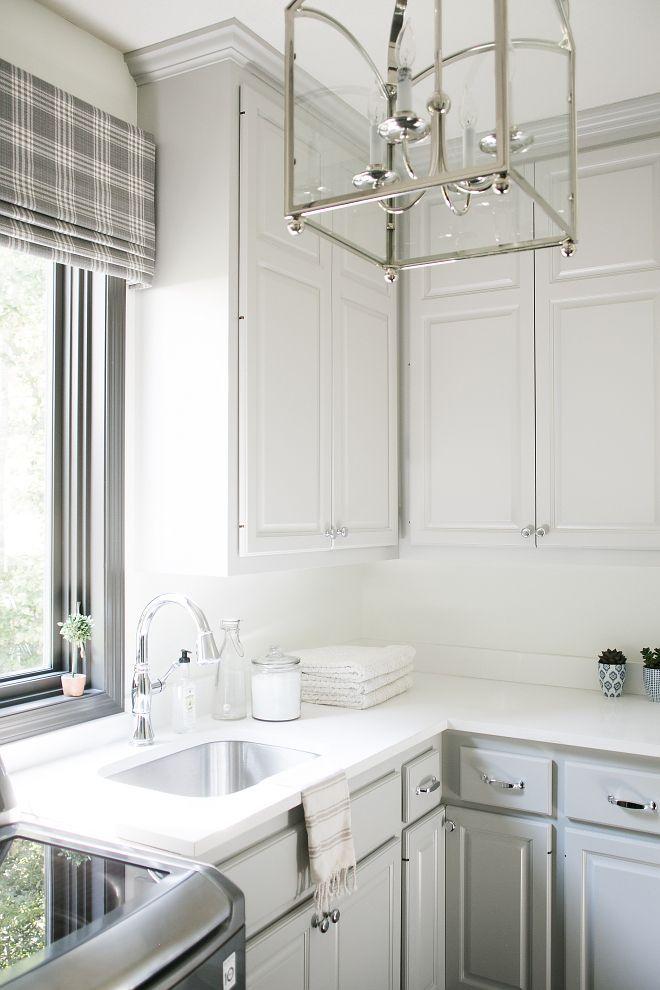 Grey Cabinet Paint Color: Benjamin Moore AC 25 Harbor Gray.