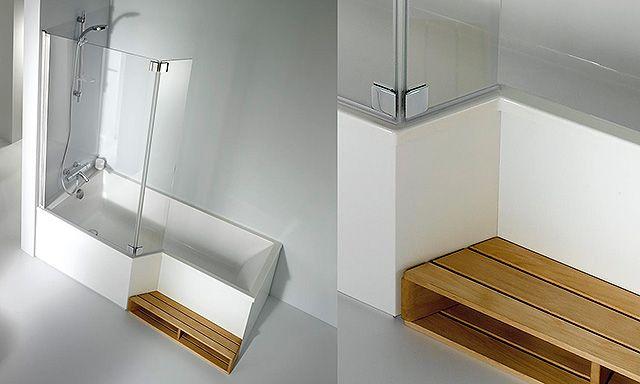 Baignoire avec une zone douche jacob delafon bain douche neo seysses baignoire douche et - Baignoire douche avec porte pas cher ...