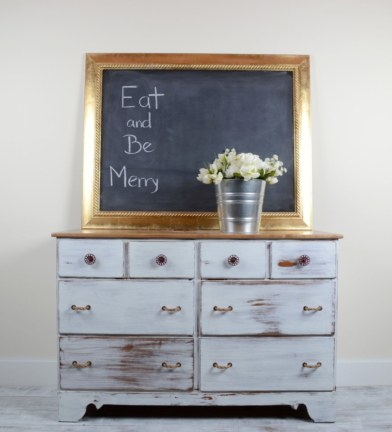 White Farmhouse Dresser, Buffet, Kitchen/Dining Sideboard for ...