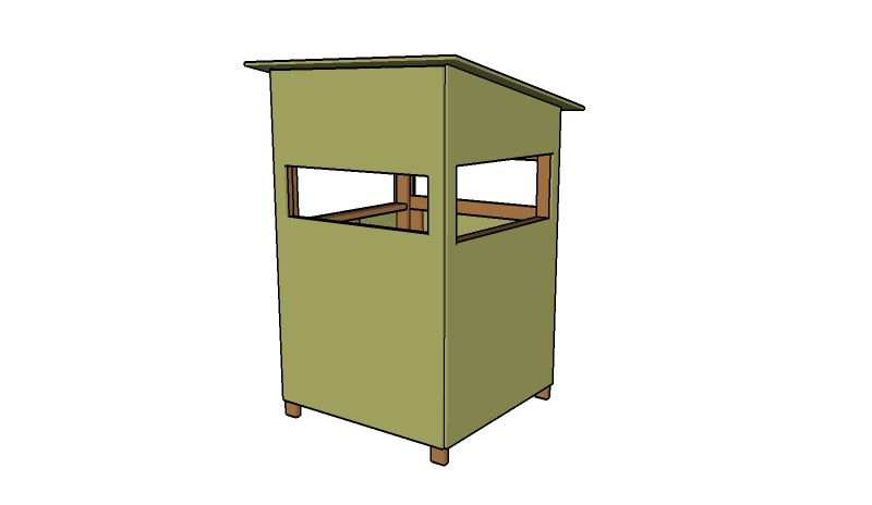 4x4 deer stand plans pinteres