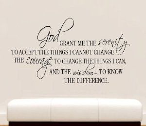 serenity prayer wall decal quote home decor