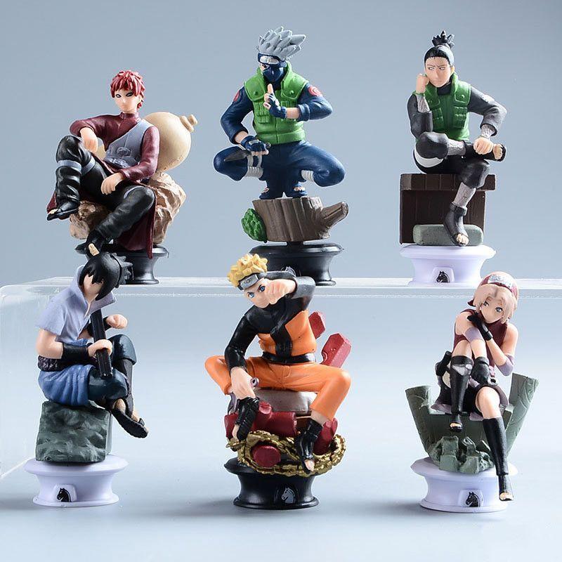 Action Figures 6 Pcs Set Collection Naruto Kakashi Sakura