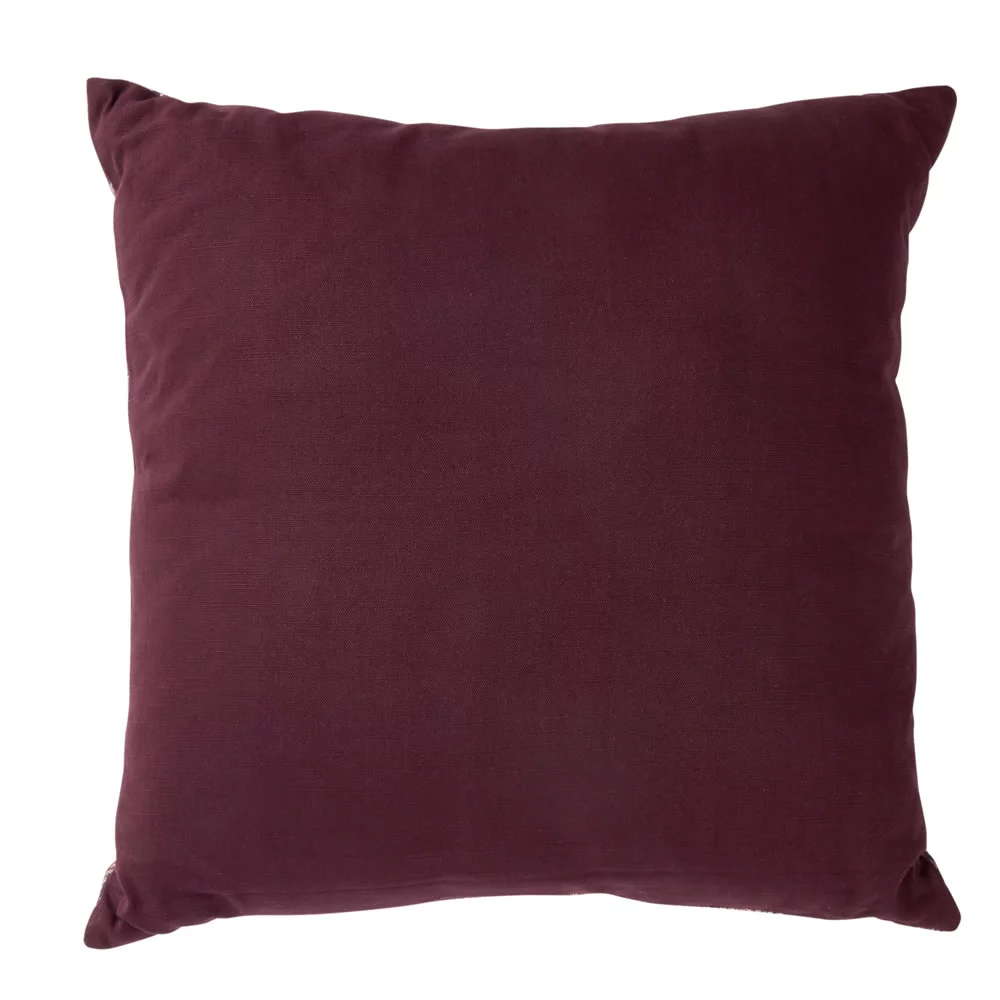 Velour Cushion Burgundy 50 x 50cm Stylish outdoor