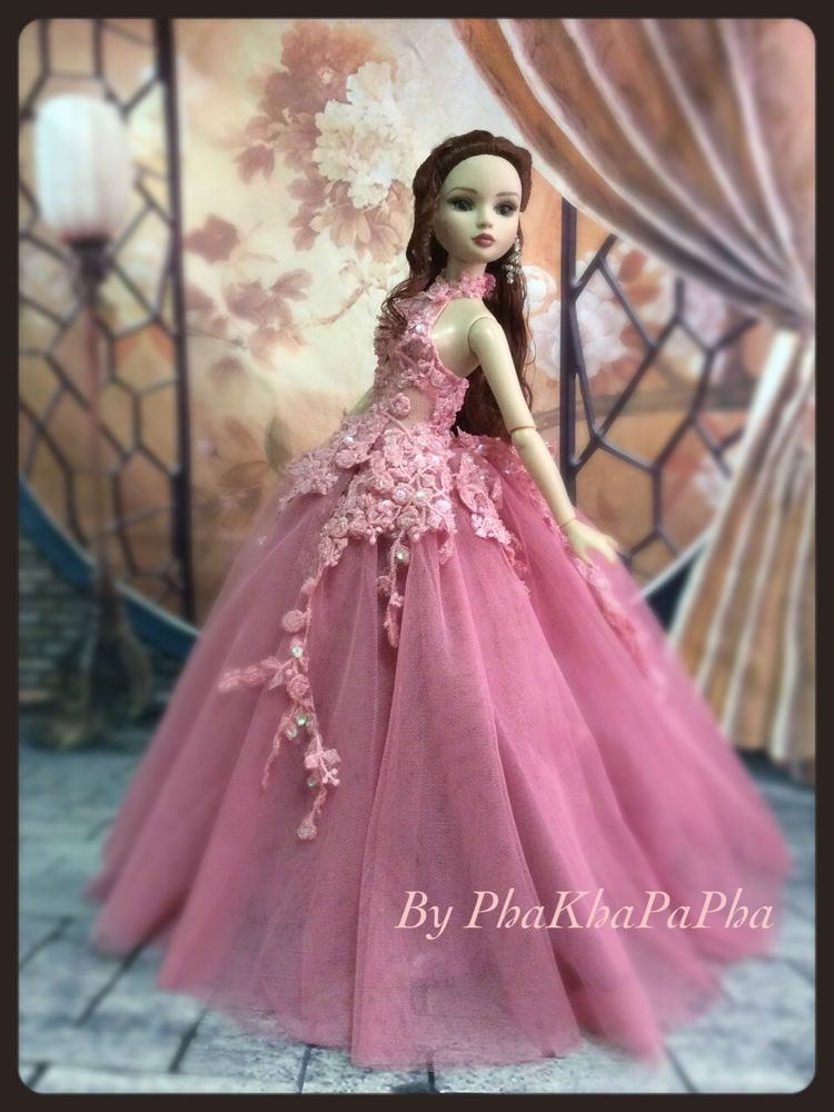 PKPP-795 Tonner Ellowyne Princess Evening Lace Gown dress outfit ...