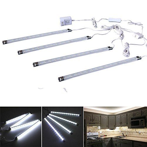Efrank Set Of 4 Led Light Barunder Kitchen Cabinet Led Lamp White Energy Saving Led Strip Kitwhite You Can Fin Kitchen Led Lighting Bar Lighting Led Lights
