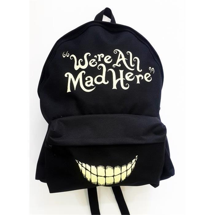 3cd78c9ef48d Alice In Wonderland - Were All Mad Here Backpack Bag