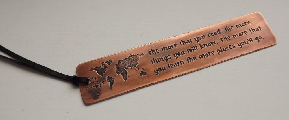 World map bookmark travel gift handmade etched copper bookmark world map bookmark travel gift handmade etched copper bookmark the more that you gumiabroncs Choice Image