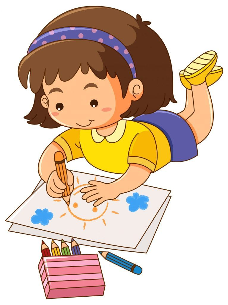 Kid Drawing Clipart : drawing, clipart, Drawing, Clipart, Ready, Download