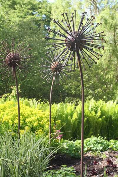 Steel Garden Or Yard / Outside And Outdoor Sculpture By Artist David Mayne  Titled: U0027Seed Head (Giant Steel Metal Seed Heads Garden/Yard  Statues/sculpture)u0027 ...