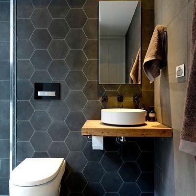 Azulejos hexagonales bathroom pinterest fotos de - Azulejos hexagonales ...