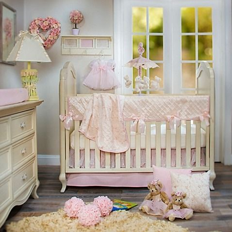 Crib Bedding, Pink Gingham Baby Bedding