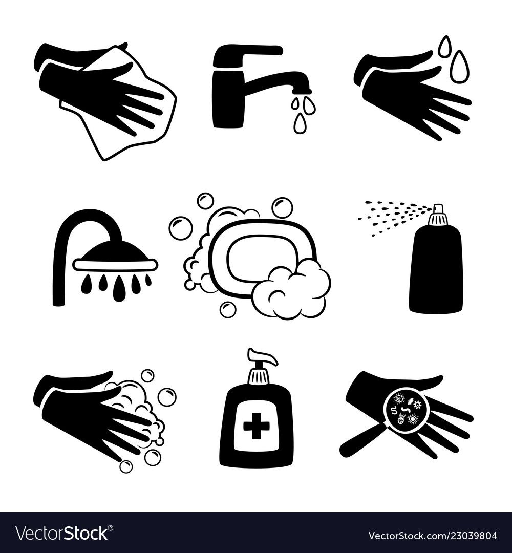 24++ Hand sanitizer clipart black and white ideas