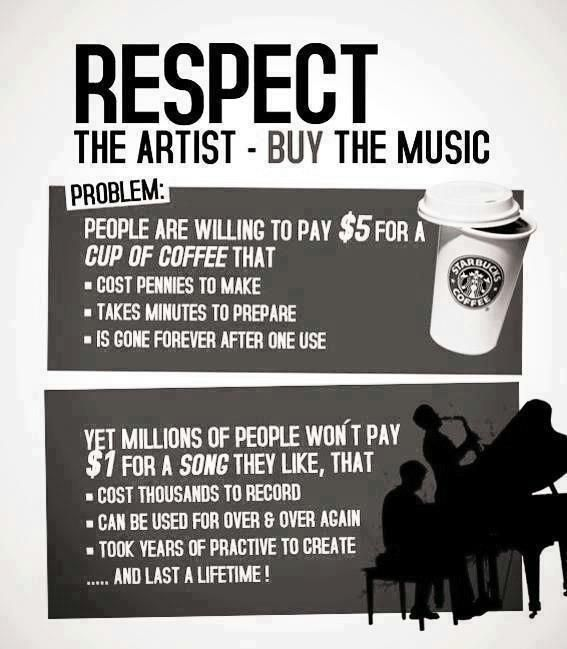 "Different Kitchen Tumblr - ""Respect The Artist - Buy The Music!"" <-- THIS!!!! (although hate that they didn't friggin' proof-read before they published!)"