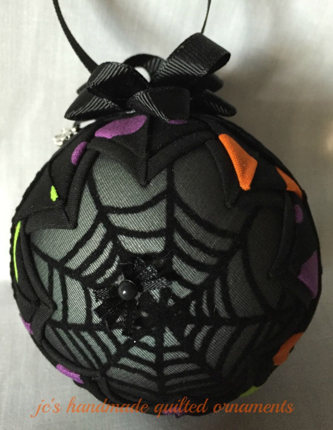 Halloween Ornament,Quilted Ornaments,Halloween Decorations,Halloween - Witch Decorations For Halloween