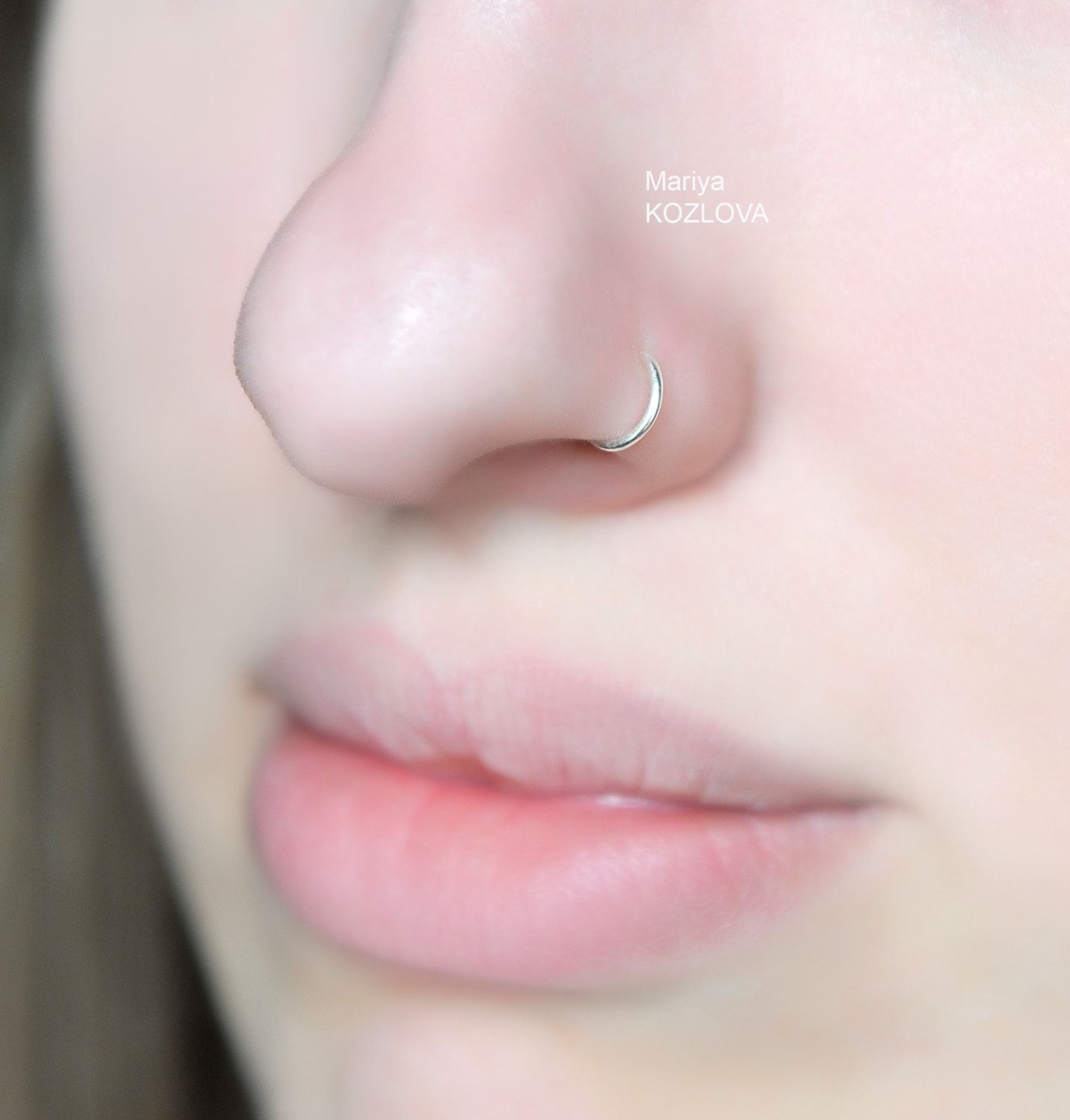 No Piercing 6mm Small Nose Ring Nose Tiny Hoop Fake Nostril
