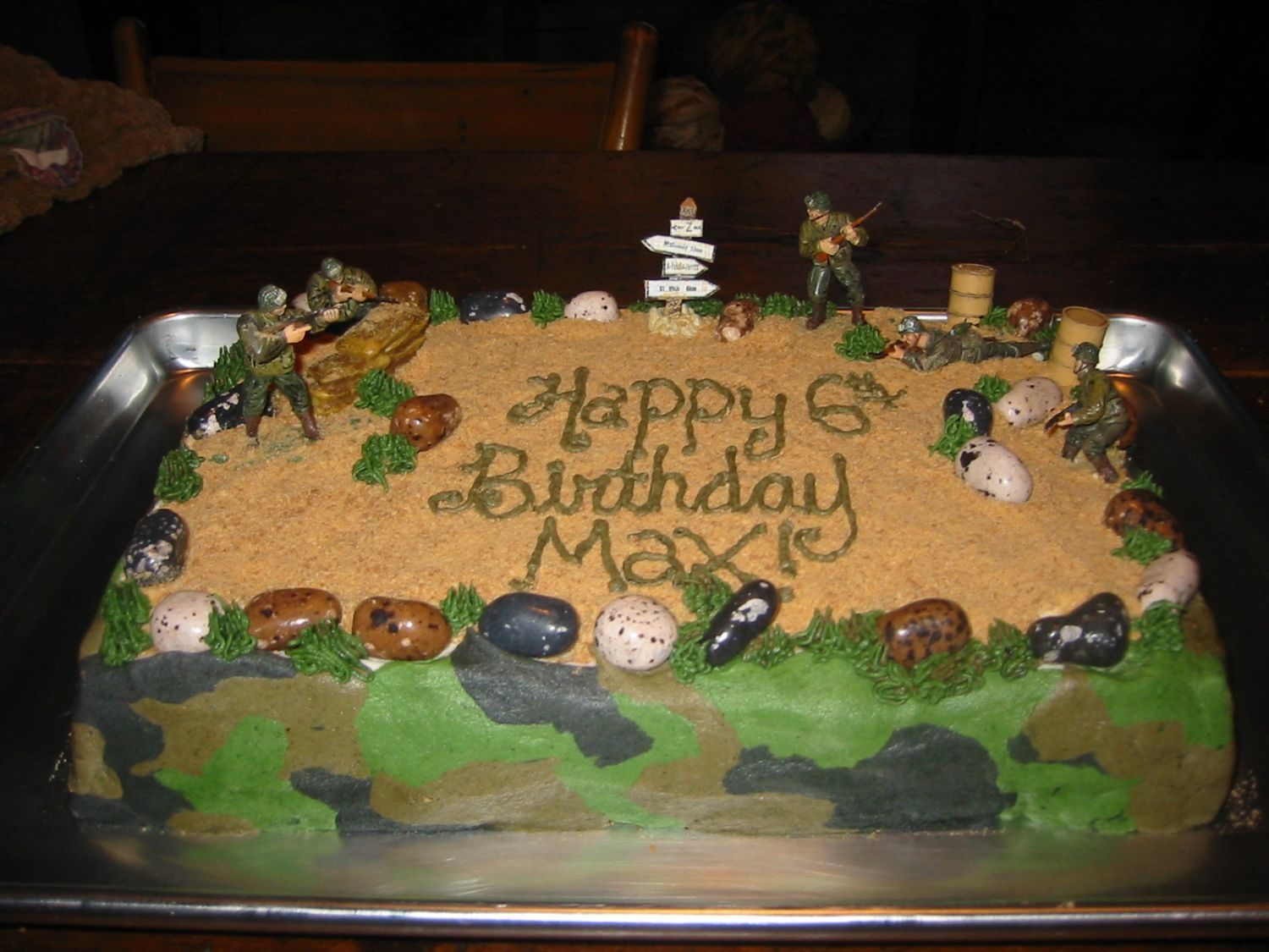 armycakes Army scene birthday cake Childrens Birthday Cakes