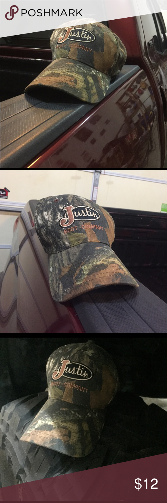 Men or Women s JUSTIN BOOT COMPANY Camouflage hat Never been worn !!!!  Purchased at a county fair for my brother--and he turned out not being a  fan! 8694c1a7c49