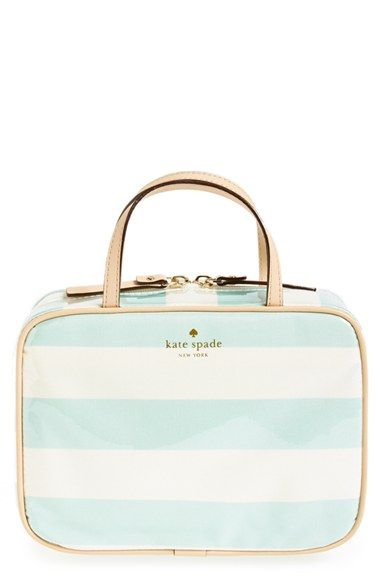 Free Shipping And Returns On Kate Spade New York Java Place Manuela Cosmetics Case At Nordstrom Cheery Grosgrain Ribbon Stripes Color A Coated