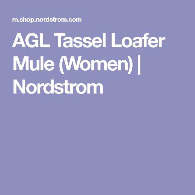 Agl Tassel Loafer Mule Women Nordstrom With Images Loafer Mules Tassel Loafers Loafers