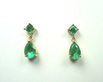 emerald earrings – Etsy NL