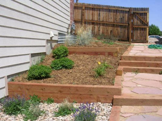 Landscape Timber Retaining Wall | Home Design Ideas | Projects To