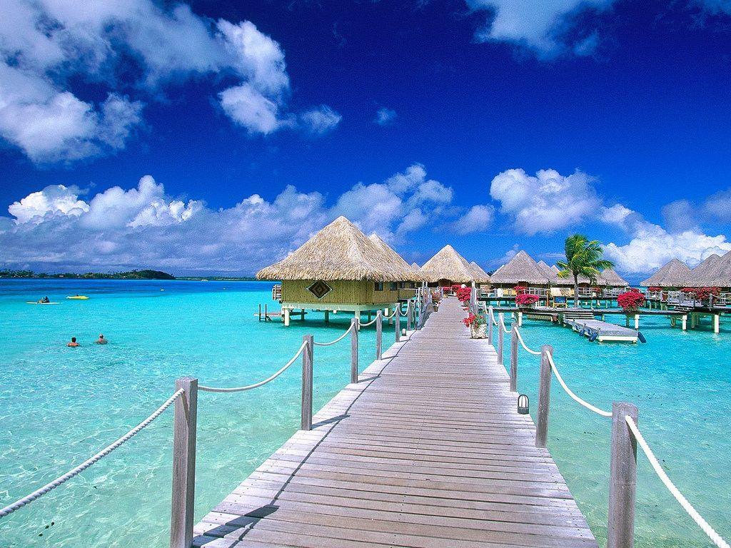 Foto Pemandangan Laut Terindah Di Dunia Bora Bora Island Beach Wallpaper Bali Tour Packages