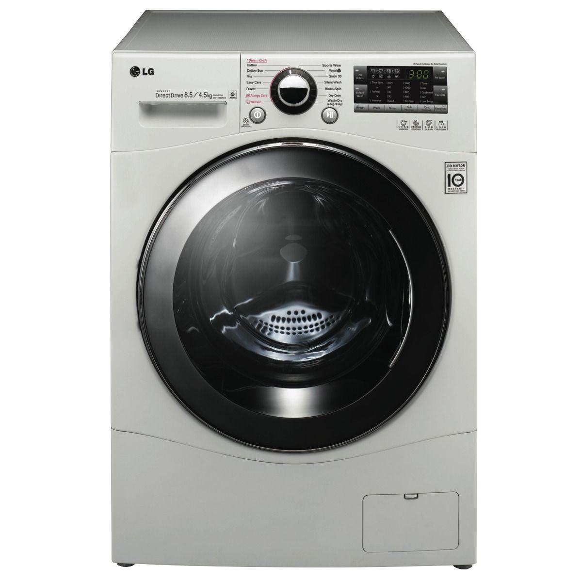 Lg Wd14130fd6 8 5kg Washer 4 5kg Dryer Combo At The Good Guys Washing Machine Front Loading Washing Machine Washing Machine Lg