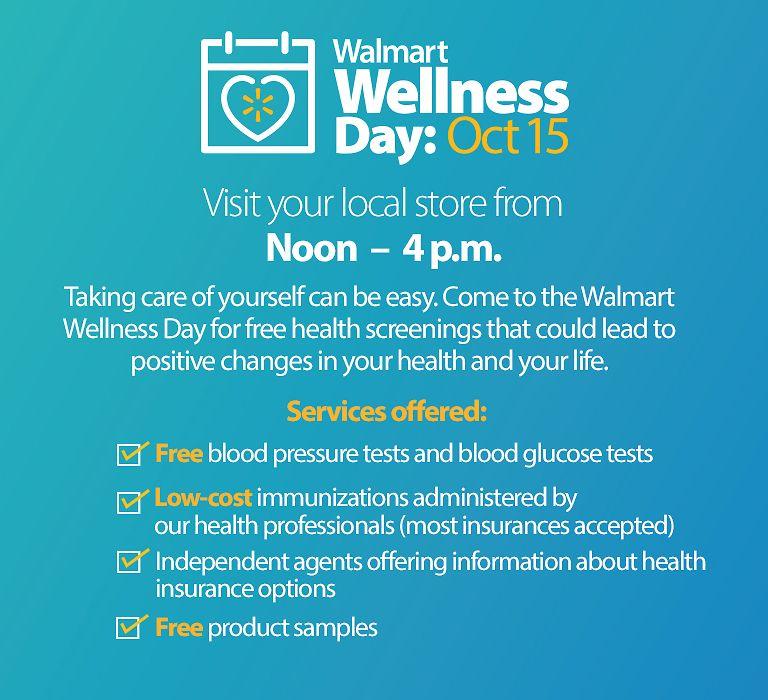 Walmart Wellness Day Free Samples Screenings & More On
