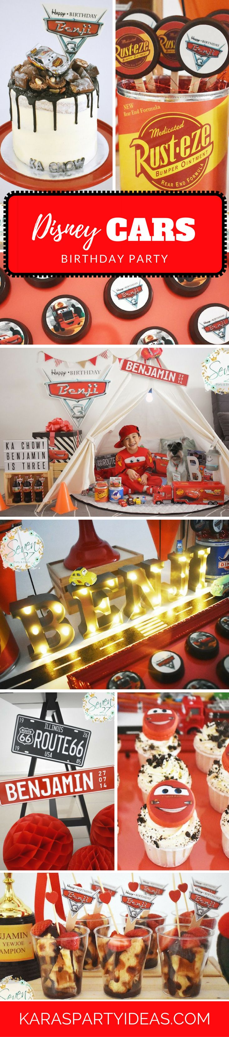 Disneys Cars Radiator Springs Birthday Party Lightning mcqueen
