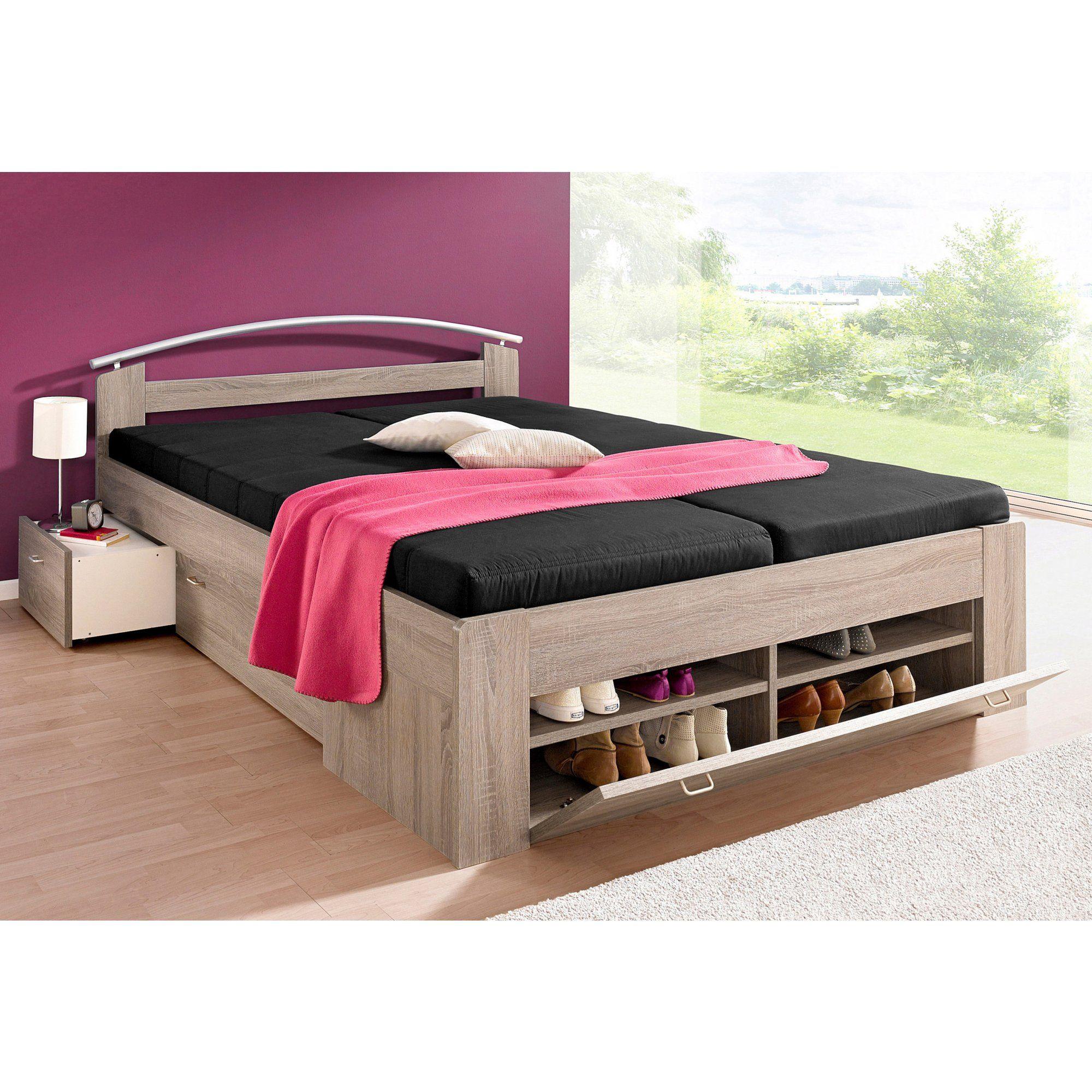 lit multi rangements 1 ou 2 personnes avec matelas. Black Bedroom Furniture Sets. Home Design Ideas