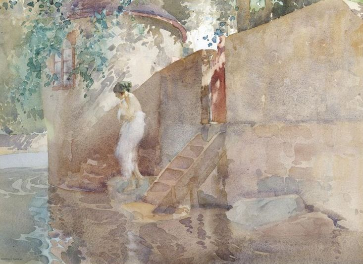 Old Paint (geritsel: William Russell Flint - watercolor)