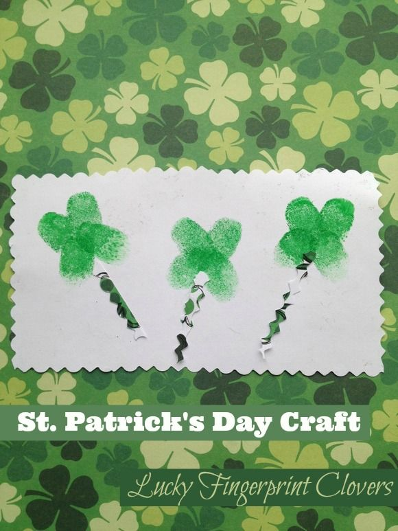 a68348a19 Lucky Fingerprint Clovers - and 16 other fun St. Patrick's Day projects!