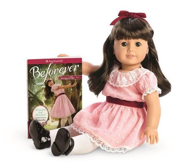American Girl SAMANTHA DOLL and BOOK beforever collection PINK DRESS fast ship